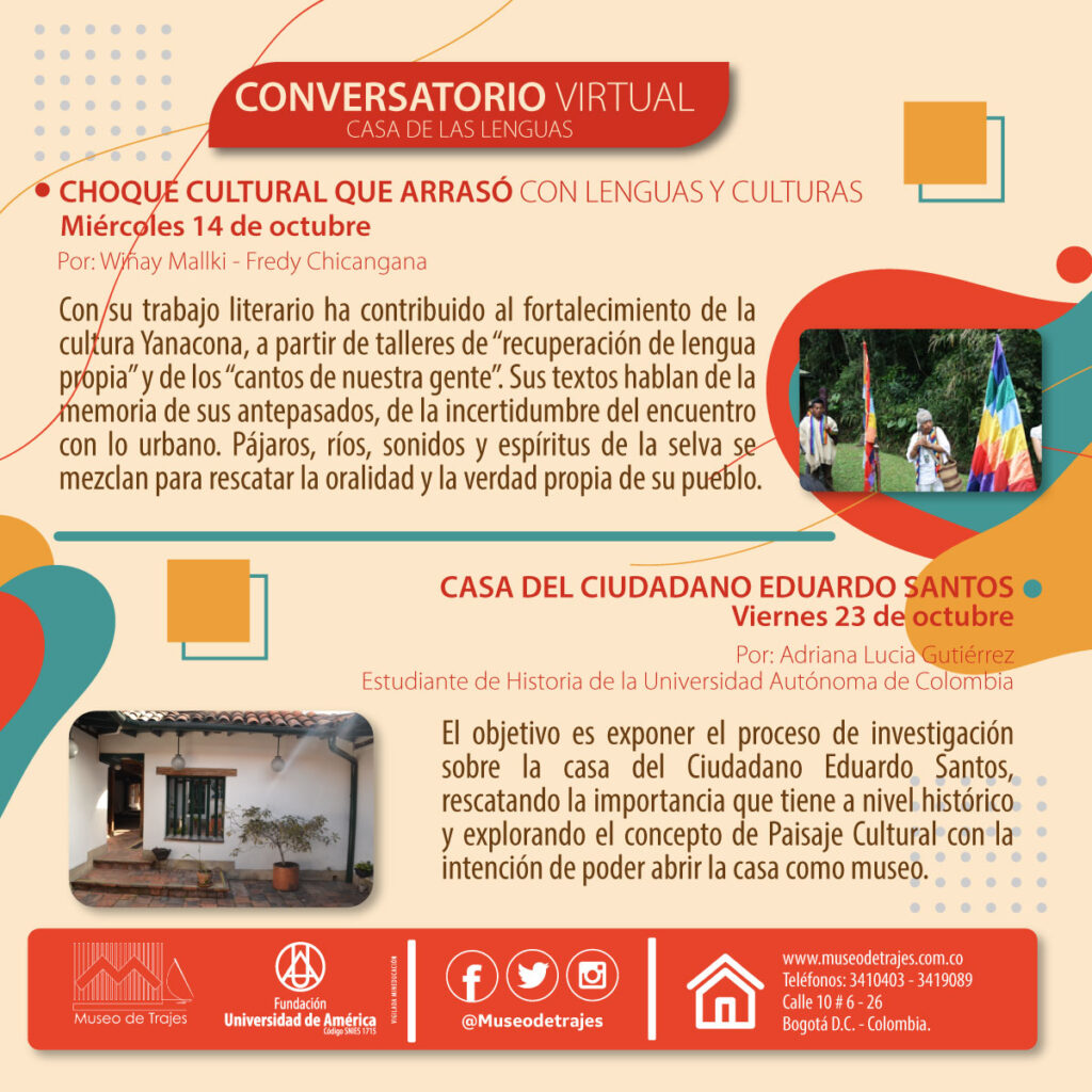 CONVERSATORIO VIRTUAL CASA DE LAS LENGUAS CHOQUE CULTURAL QUE ARRASÓ CON LENGUAS Y CULTURAS.